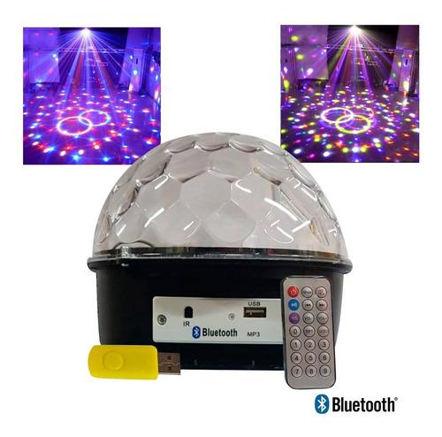 Bola Audioritmica 6 Colores Usb Sd Luces Led Dj   + Pendrive