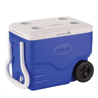 Caixa Térmica Com Rodas 40qt - 38l Azul Coleman