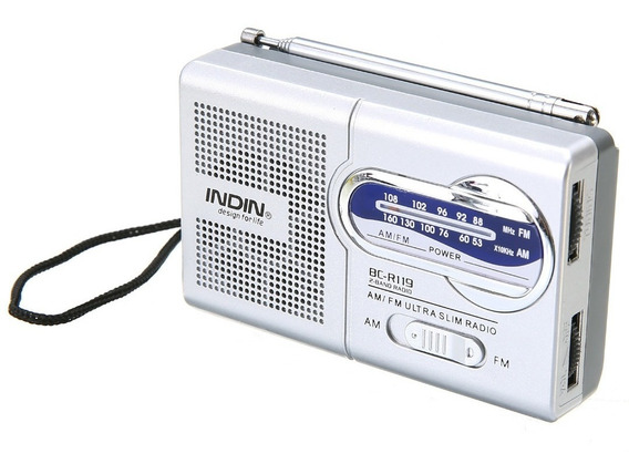 Rádio Receptor Portátil Indin Bc-r119 Am/fm Compacto Leve