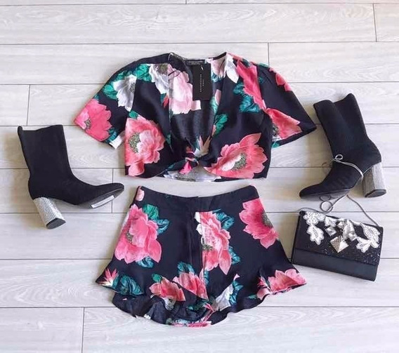 Camisa Y Short Zara Tb Ginebra Jazmín Rapsodia Envio Gratis