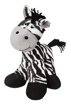 Zebra De Pelúcia Zazá Em Pé 37 Cm Zoológico Antialérgica