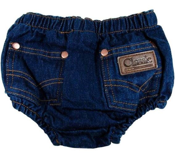 Short Jeans Tapa Fralda Infantil Classic