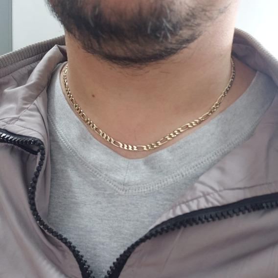 Corrente Prata Italiana 925 Masculina Fígaro
