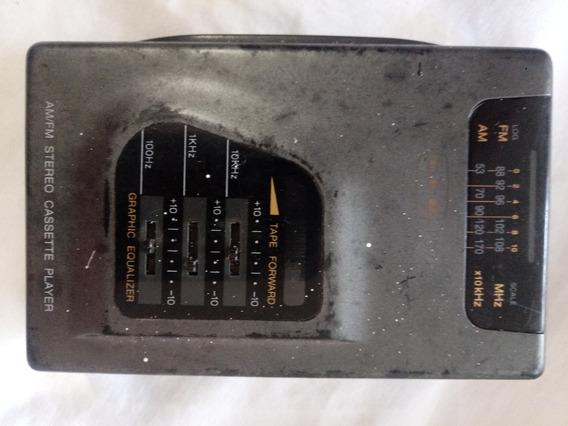 Walkman Rádio Cassette Player Cce Não Roda A Fita