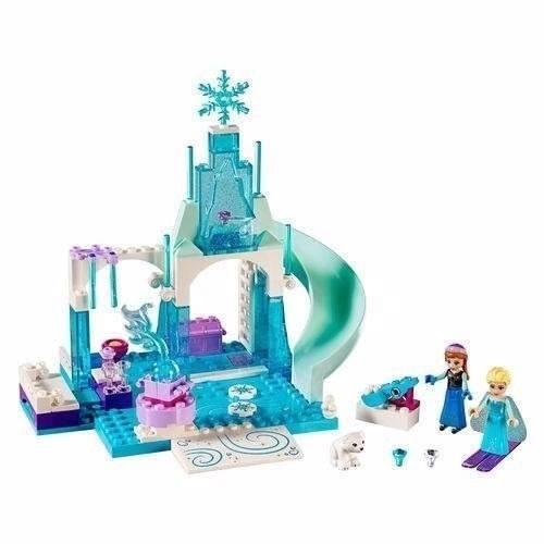 Brinquedo Montar Lego Juniors Anna E Elsa Playground 10736
