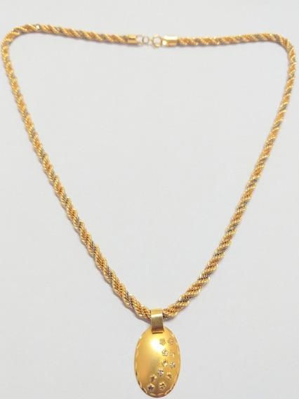 Cordão De Ouro 18k (750) Grossa E Trançada