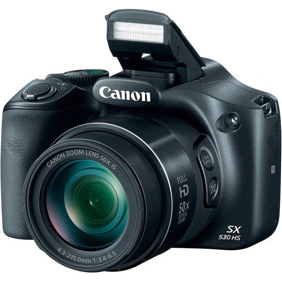 Câmera Digital Canon Powershot Sx530 Hs Fullhd 16mp 50x Wifi