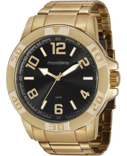 Relógio Masculino Mondaine Original Dourado 99369gpmvde3