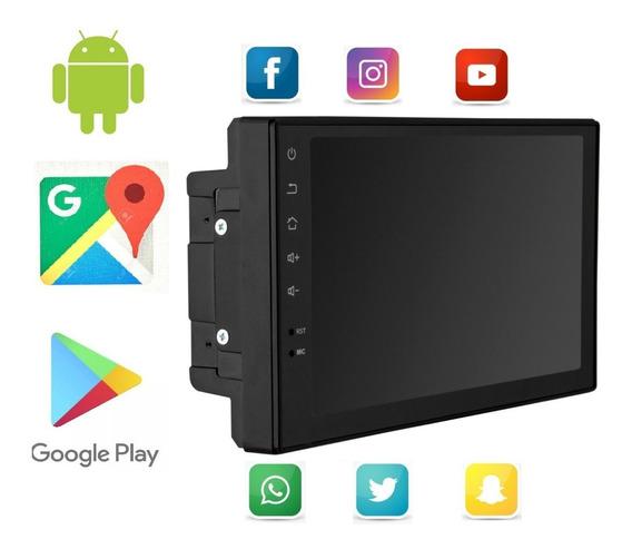 Multimídia 2 Din Mp5 Wifi Gps Bt Usb App 100% Android 16gb