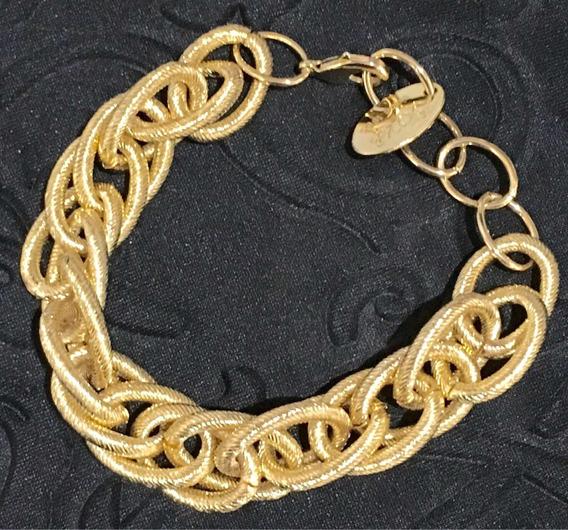 Pulseira Folheada A Ouro 23cm Belíssima !!! Frete Gratis