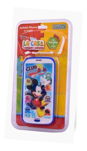 Imagen 1 de 4 de Celular Phone Disney Mickey Con Luz Y Sonido Ditoys 2088