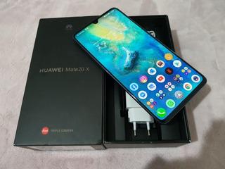 Huawei Mate 20 X Azul 6/128 Evr-l29 Global (r$ 2.950 Em 1x)