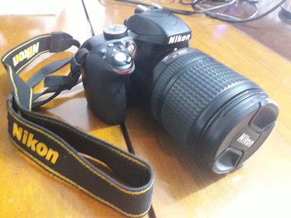 Nikon D3300 + Lente 18-140 + 2 Baterias/charger + Sd + Bolsa
