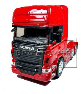 Miniatura Caminhão Carreta Scania V8 R730 Trucada Welly 1/32