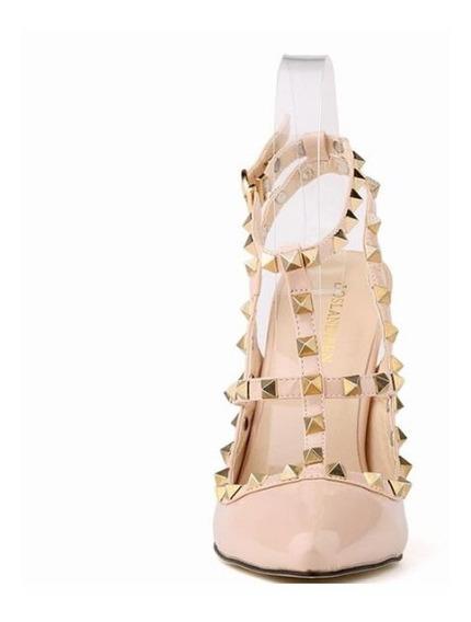 Zapatos Importados Con Tachas Taco De 12cm