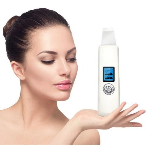 Imagen 1 de 10 de Espatula Peeling Masajeadora Facial Ultrasonica Acne Cuotas