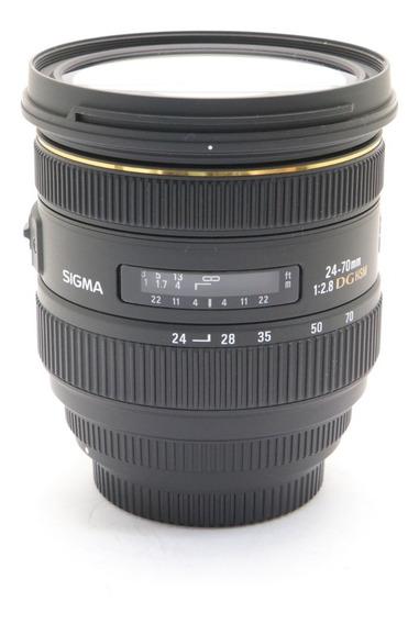 Lente Sigma Para Canon 24-70mm F/2.8 If Ex Dg Novíssima 100%
