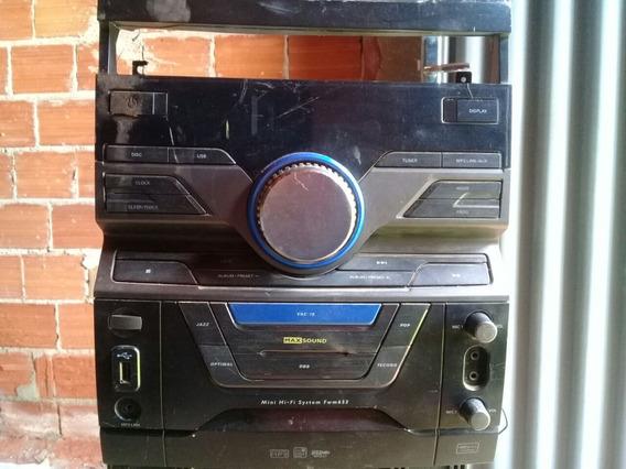 Micro System Philips Fwm653 (com Defeito Para Tirar Peças)