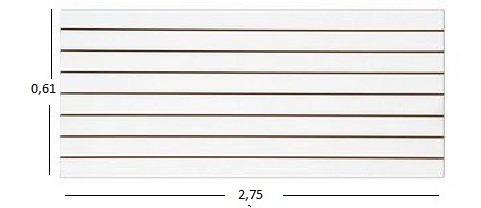 Painel Canaletado Branco De 0,61 X 2,75