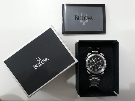 Relógio Bulova Masculino Aço Cronógrafo Wb30873t Marine Star