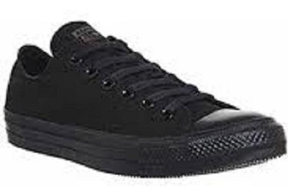 Zapatos De Tela Negro Escolares Tipo Converse