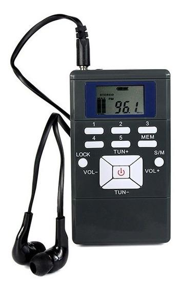Rádio Receptor Walkman Fm Portátil Y4305 Frete Grátis