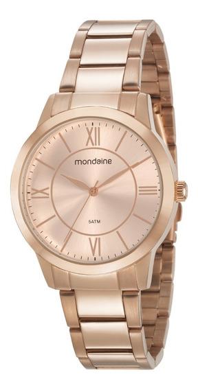 Relógio Rosê Feminino Mondaine Original A Prova D