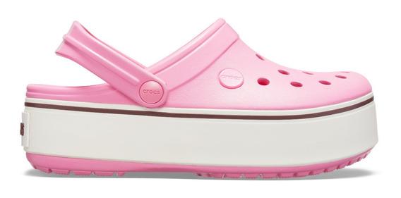 Zapato Crocs Dama Platform Clog Rosa Claro