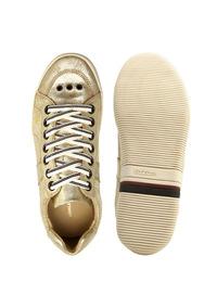 Tênis Em Couro Osklen Riva Dourado Metalizado Craquele N.35
