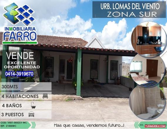 Venta De Casa En La Urb Lomas Del Viento Ve01-0052lv-wc