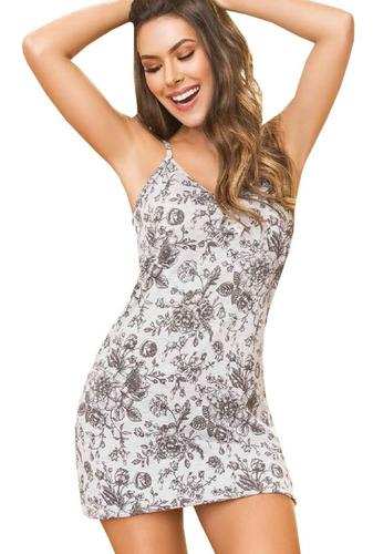 Pijama Batola Amplia Estampado De Mujer Dama