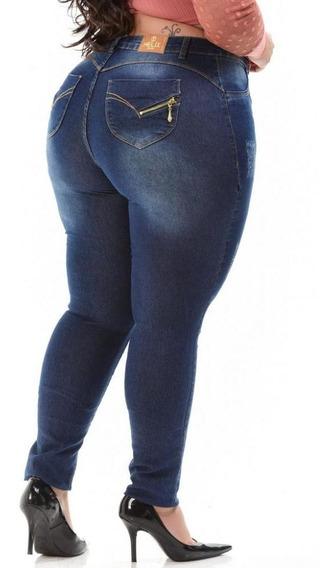 Calça Jeans Feminina Plus Size Levanta Bumbum Skinny Larah