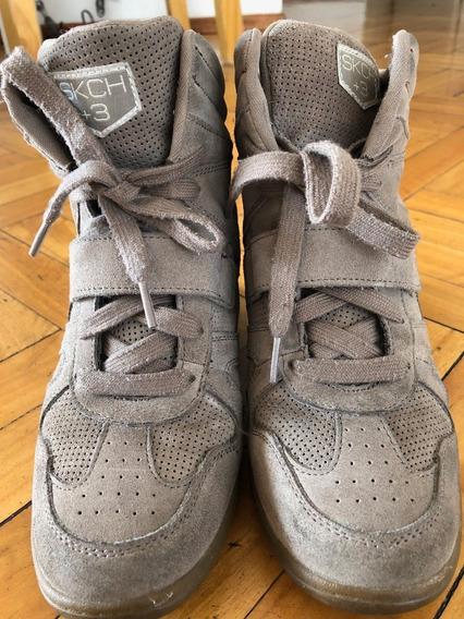 Zapatillas Sketchers Con Taco ¡comodísimas!