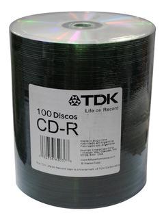 Cd-r Virgen Tdk Bulk X 100