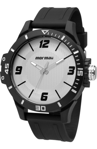 Relogio Mormaii Mo2035fl/8 Preto/branco Analógico Grande Robusto Moderno 2035fl Nf 1 Ano De Garantia