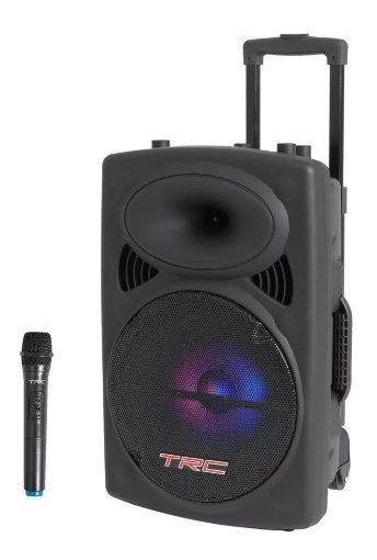Caixa Som Amplificada Trc536 480w Portátil Bluetooth Usb Fm