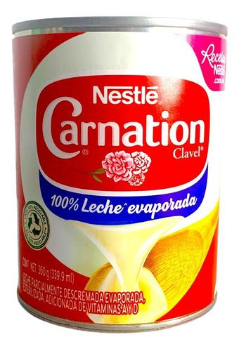 Imagen 1 de 4 de Leche Evaporada Nestle Carnation Clavel 360 Gr