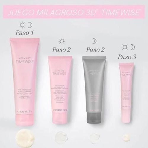 Set Completo Cuidado Piel Del Rostro Timewise 3d -  Mary Kay