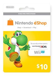 $10 Nintendo Eshop Gift Card Digital Región Usa