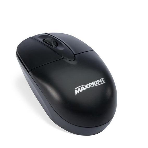 Mouse Óptico Usb Preto 606071 Maxprint 19619
