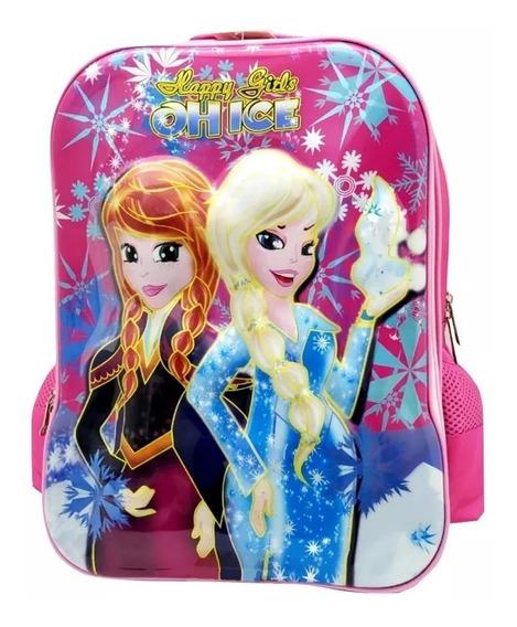 Mochila Escolar Infantil Costas Frozen Menina + 2 Brindes