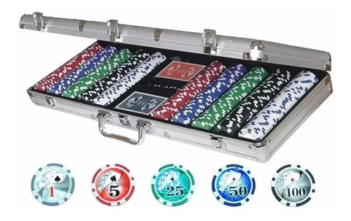 Fichero Poker 500 Fichas Numeradas Maletin Detalles Sin Caja
