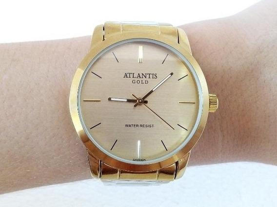 Relógio Feminino Atlantis Dourado G3200 Prova Dágua