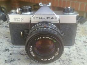 Câmera Analógica Slr Fujica Stx-1 50mm (funcionando)