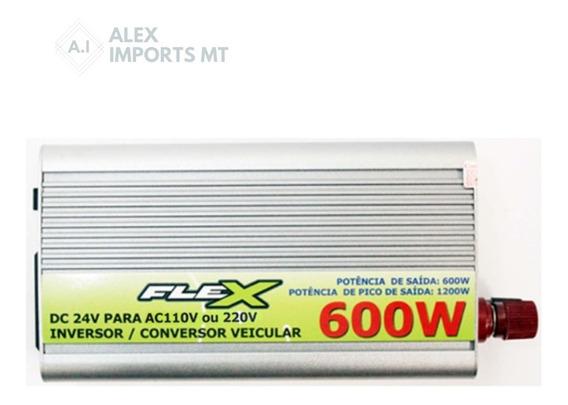 Inversor Flex 24v 110v 600w Pronta Entrega Conversor 24 Para