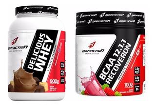 Whey Protein Delicuis ( 77%) + Bcaa 12.1.1 - 100g - Salvador