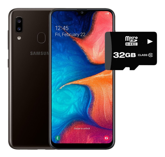 Celular Samsung Galaxy A20 32gb R + Microsd Camara Dual