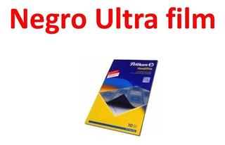Papel Carbonico Pelikan Ultrafilm Negro O Azul Oficio X 10 U