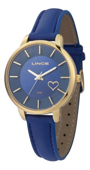 Relógio Lince Feminino Analógico Azul Lrc4528l