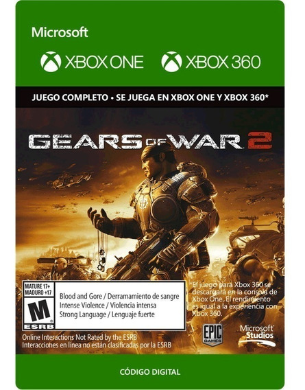 Gears Of War 2 Xbox 360/ Xbox One Código 25 Dígitos